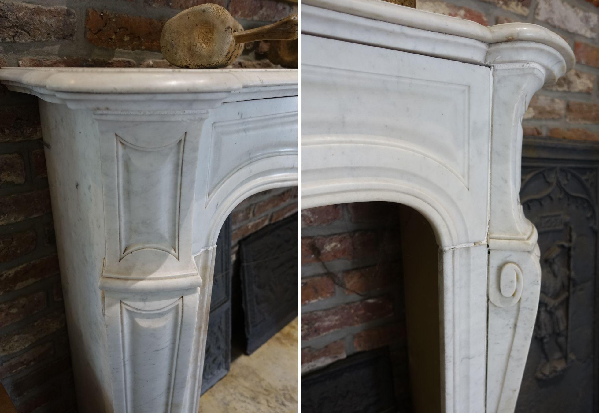 antiker kamin marmor wei naturstein vonderhecken. Black Bedroom Furniture Sets. Home Design Ideas